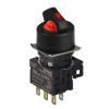 S16SR-S4RC RED/3(S-0-S)/1C Селекторный переключатель, круглый, 16 мм