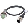 PRW12-4DN Датчик приближения индуктивный НЕэкранированный (не заподлицо), Диаметр 12 мм, расст. сраб. до 4 мм, Рабочее напряжение 12-24VDC, Выход  NPN - НО, 500Гц, с разъёмом на ка