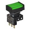 S16PRT-H4GC24 GREEN/1C/LED 24V Кнопочный выключатель, прямоугольный, 16 мм
