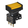 S16PRT-H1YC YELLOW/1C Кнопочный выключатель, прямоугольные, позиция: 16 мм,тип ограждения: с ограждением с 2 сторон, тип эксплуатации:возврат, желтый, Блок контактов: контакт С:1