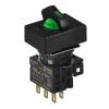 S16SRT-L3GC12 GREEN/2(R-0-R)/1C/LED 12V Селекторный переключатель, прямоугольный, 16 мм