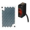 BJ3M-PDT Фотодатчик компактный, отражение от зеркала с поляризацией, размер датчика10,6x32x20 мм, NPN тип с открытым коллектором, режим работы - выбирается переключателем: на свет/