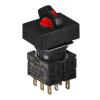 S16SRT-S6R2C RED/3(R-0-S)/2C Селекторный переключатель, прямоугольный, 16 мм