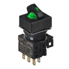 S16SRS-L5GC24 GREEN/2(S-0-R)/1C/LED 24V Селекторный переключатель, квадратный, 16 мм