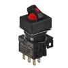 S16SRS-L4RC5 RED/2(S-0-S)/1C/LED 5V Селекторный переключатель, квадратный, 16 мм
