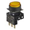 S16PR-E4YC24 YELLOW/1C/LED 24V Кнопочный выключатель, круглый, 16 мм