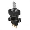 S16KRS-4FKC 2(S-0-S)/C+R/1C Селекторный переключатель с ключом, квадратный, 16 мм