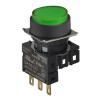 S16PR-E3GC5 GREEN/1C/LED 5V Кнопочный выключатель, круглый, 16 мм