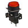 L16RR-ER12 RED 12V Сигнальная лампа, плоская,круглая, выступающая, 16 мм