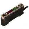 BF5B-D1-P Усилитель оптоволоконный, Высокий КПД, Двойной цифровой дисплей, размер 10x30x70 мм, Питание12-24VDC, Синий СИД 470 нм, Режим работы -  на свет/на затемнение. Выход PNP,