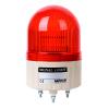 ASGF-20-R, Маячок проблесковый компактный, мигающее свечение ( призматический плафон), D=86мм, Лампа накаливания MAB-T15-S-240-08, Питание 220VAC, Цвет Красный, IP42, монтаж на шпи