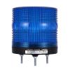 MS115T-R00-B Многофункциональная светодиодная сигнальная лампа, диаметр 115 мм, Режим работы: Постоянное свечение + Мигающее + Вращение, Питание 12-24 VDC, Цвет плафона Синий.