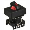 S16SRT-L3RC12 RED/2(R-0-R)/1C/LED 12V Селекторный переключатель, прямоугольный, 16 мм